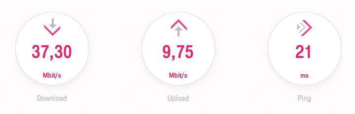 Speedtest Telekom 22.10.2016 (Samstag 13:15 Uhr)